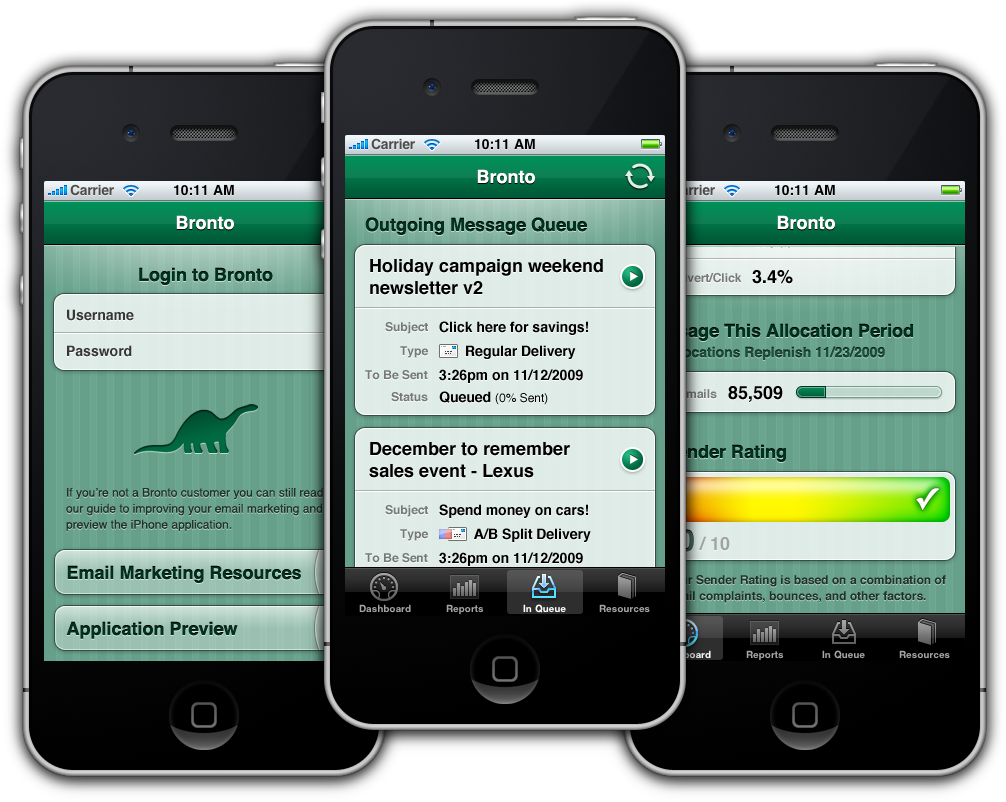 Bronto iPhone App
