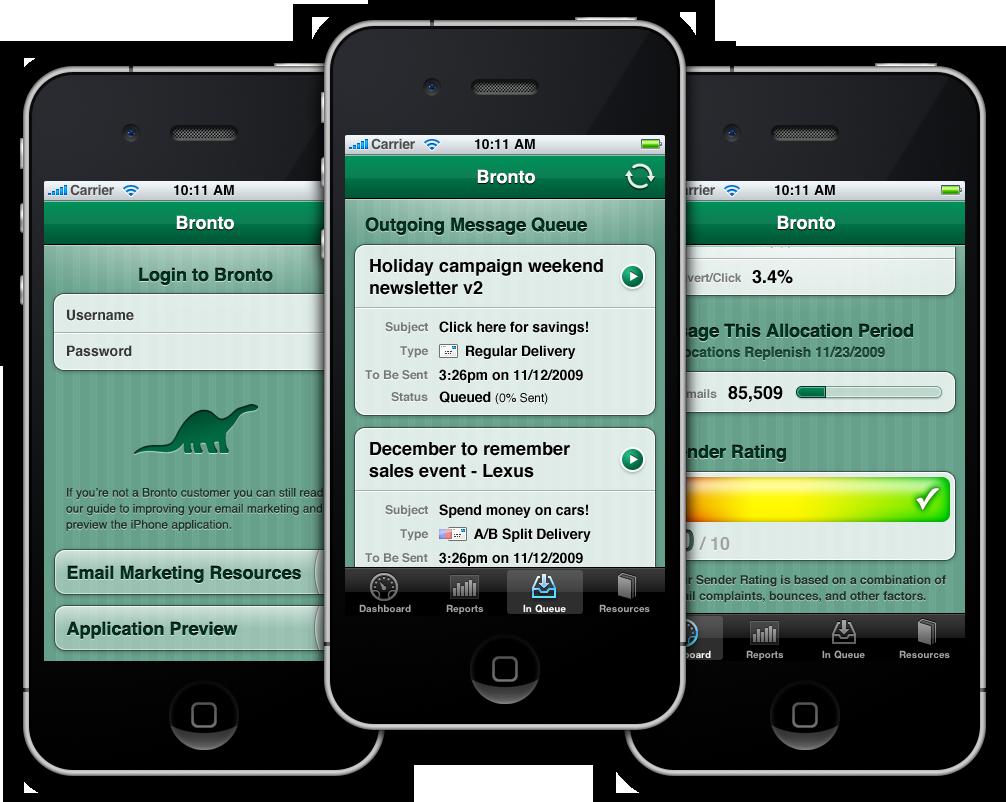 Bronto iPhone App