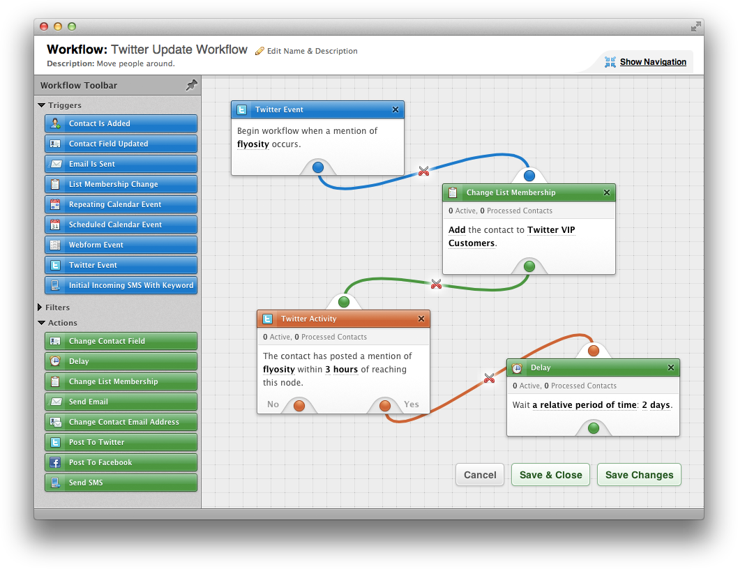 Bronto Workflow Builder
