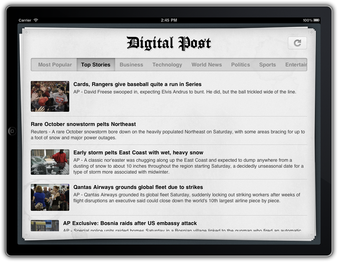 Digital Post for iPad