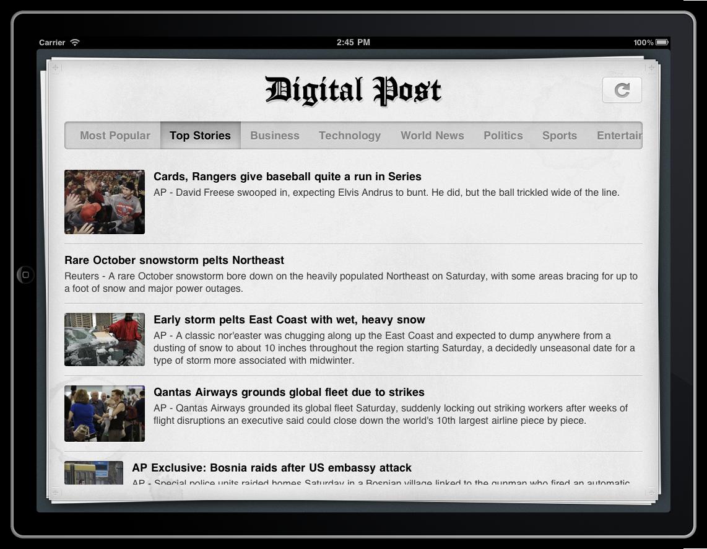 Digital Post for iPad