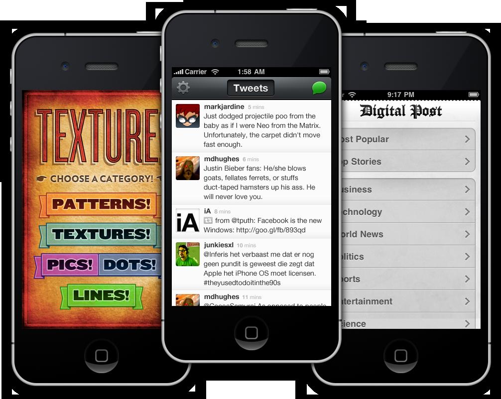 Texture, Beak & Digital Post for iPhone